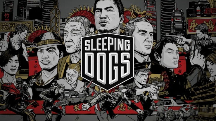 Sleeping Dogs comic book style cover art
